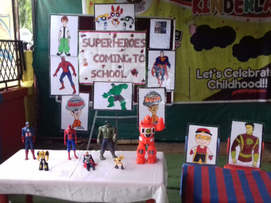 Super heroes coming to school